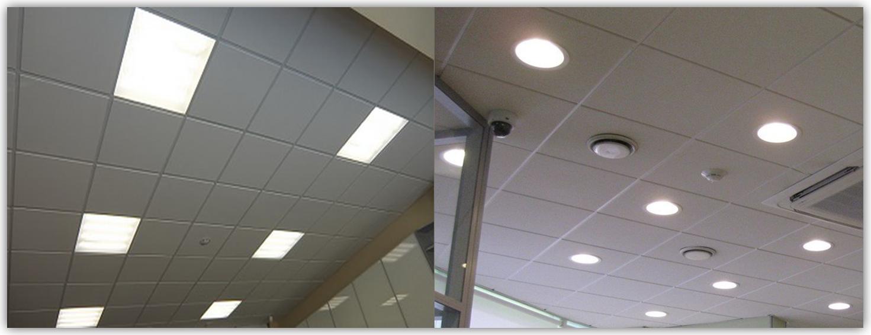 Встраиваемые светильники в потолок Армстронг
