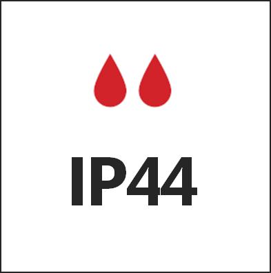 Степень пылевлагозащиты IP44