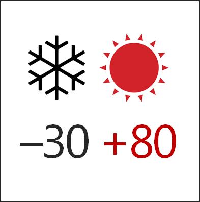 Температура эксплуатации -30+80