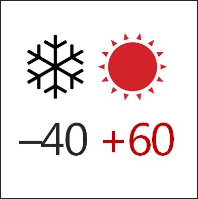 Температура эксплуатации -40+60