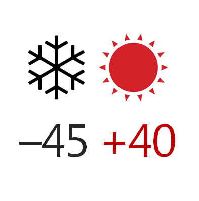 Температура эксплуатации -45+40