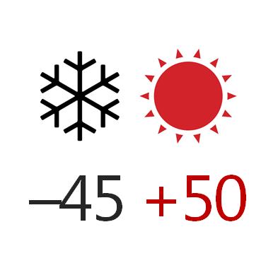 Температура эксплуатации -44+50