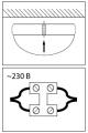 Накладной монтаж светильника с МВ-датчиком