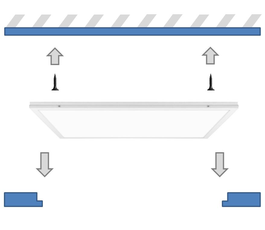 Универсальный монтаж офисного светильника