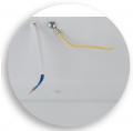 Вывод провода светильника 600х600