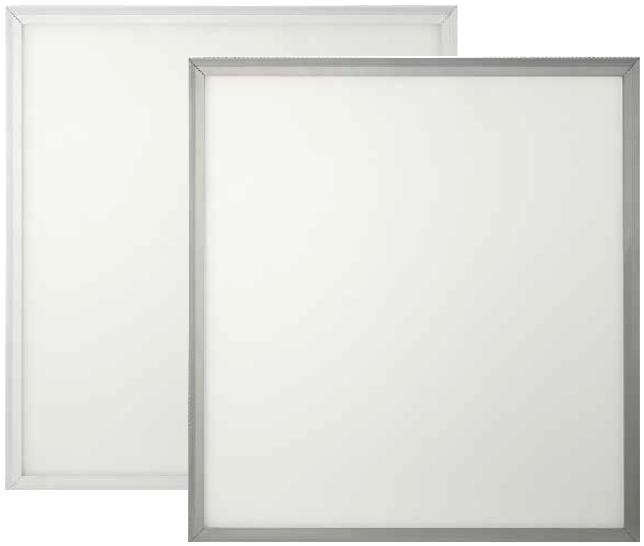 Светодиодные панели с белой и серебристой рамкой