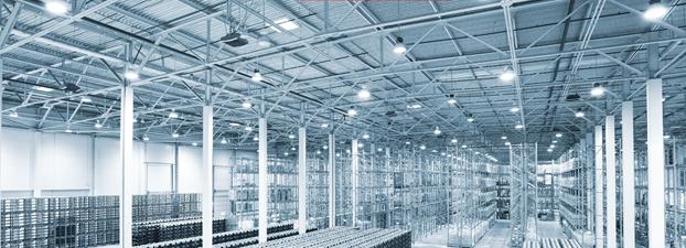 Освещение склада, цеха и промышленных помещений